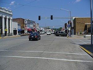 Mount Carmel, Illinois - Market St. in midsummer