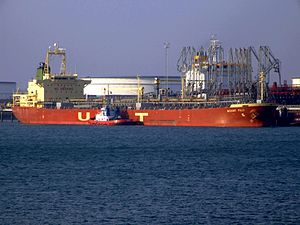 Mount Fuji p0 at the Calland canal, Port of Rotterdam, Holland 01-Apr-2007.jpg