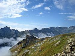 Mount Korab rising above clouds
