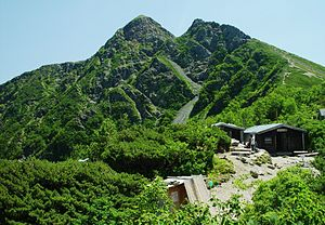 Mount Shiomi - Image: Mount Shiomi and Huts Shiomi 2002 8 20