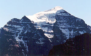 Mount Temple (Alberta) - North face of Mt. Temple from Mt. Fairview