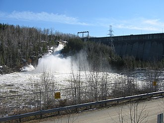 Black Donald Lake - Image: Mountain Chute Dam Sluices Open