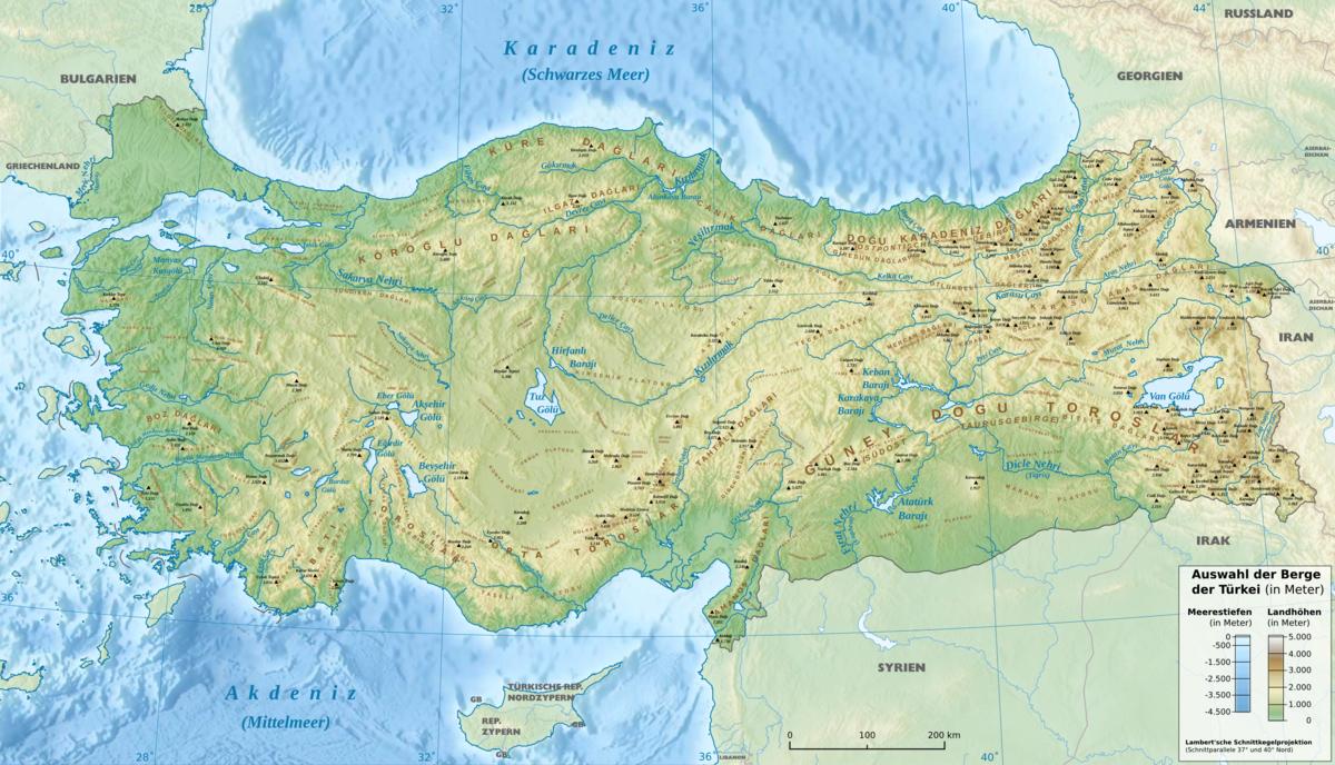 Karte Türkei.Taurusgebirge Wikipedia