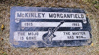 Muddy Waters - The cemetery plot of Muddy Waters, under his real name, McKinley Morganfield, in Restvale Cemetery, Westmont, Illinois
