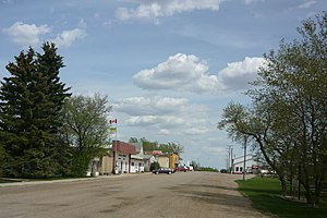 Muenster, Saskatchewan - The town's main drag, Railway Street.