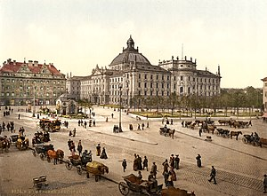 Justizpalast (Munich) - Postcard from the 19th century