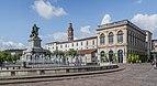 Municipal library, Statue of Leon Gambetta and Gambetta College in Cahors 01.jpg