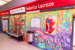 Federico Lacroze (Buenos Aires Underground) - Image: Mural Lacroze (GCBA) Hiperrealista (2)