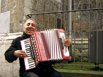 Bal-musette - A musette accordion player.