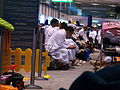 Muslim pilgrims overnighting at Abu Dhabi Airport..JPG