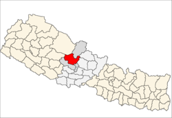 map of Myagdi, Nepal
