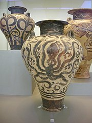 Mycenaean palace amphora with octopus
