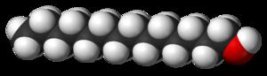 1-Tetradecanol - Image: Myristyl alcohol 3D vd W