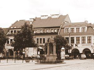 Myślenice - Market Square in Myślenice