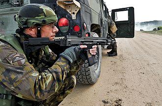 CZ 805 BREN - Czech paratrooper with the CZ 805 BREN A2 carbine