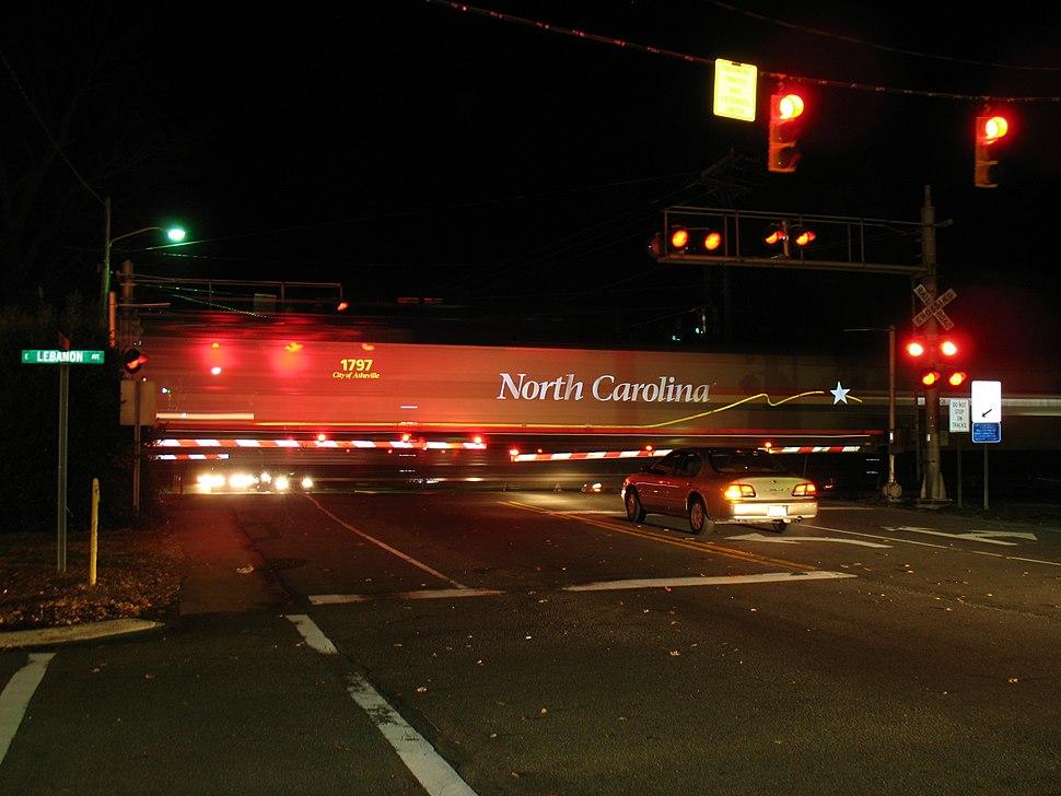 NC train through Elon