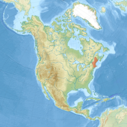 Location of New England in North America
