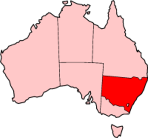 Anthony Fenn Kemp - map of present-day New South Wales