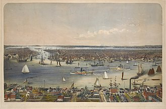 Wallabout Bay - Image: NYC 1848
