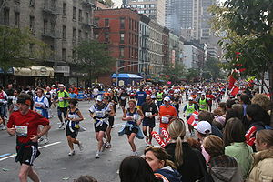 NYC Marathon in 2007, Upper East Side segment