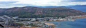 Nain, Newfoundland and Labrador - Nain as viewed from Mt. Sophie, September 2011.