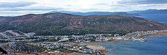 Nain, Newfoundland and Labrador - Nain as viewed from Mt. Sophie, September 2011.
