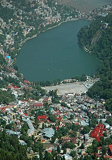 Nainital Town in Uttarakhand, India