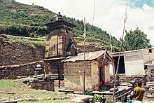 Ancient temple of Goddess Nanda Devi at village Lata, Nanda Devi Biosphere