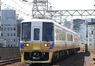 Semboku Rapid Railway - Image: Nankai 11000 series Semboku Liner ver.2