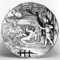 Nanni di Bartolo - Plate with Hercules, Nessus and Deianira - Walters 481497.jpg