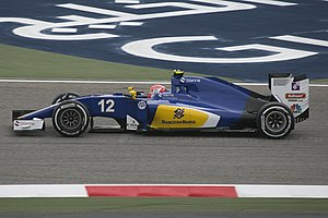 Banco do Brasil - The Banco do Brasil logo on Nasr's Sauber C35