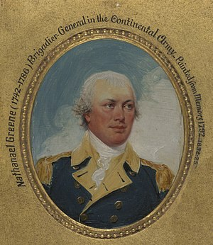 The Capture of the Hessians at Trenton, December 26, 1776 - Image: Nathanael Greene by John Trumbull 1792