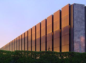 Economy of Denmark - The building of Danmarks Nationalbank, the central bank of Denmark, built by the Danish architect Arne Jacobsen.