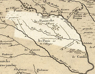 Nebraska - Nebraska in 1718, Guillaume de L'Isle map, with the approximate area of the future state highlighted.