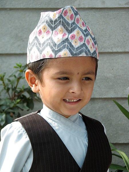 Nepali boy wearing Birkhe