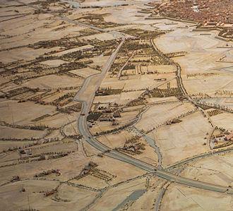 Neudorf (Strasbourg) - Relief plan dating from 1863