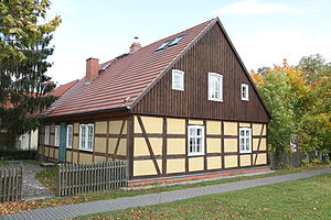 Kötter - The home (Kotten) of a Kossäten in Wuthenow in eastern Germany.