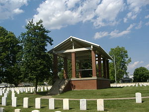 New Albany National Cemetery - Image: New Albany National Cemetery Rostrum