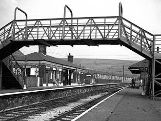 Newhey tram stop - Image: New Hey Station