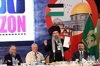 "Aleksandr Dugin - Aleksandr Dugin is seen at the International Conference ""New Horizon"" in May 2018 in Mashhad, Iran"