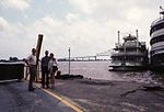 New Orleans - John with Dave & Jill Wigg waiting for the Ferry - april 1973.jpg
