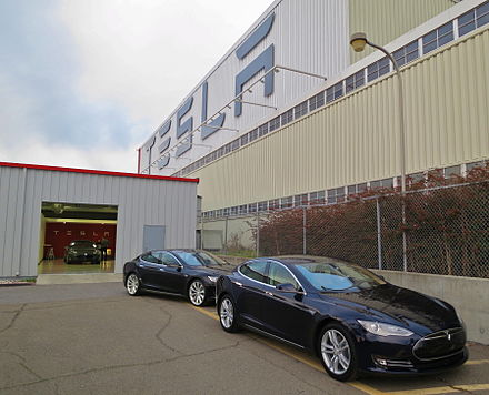 New Tesla Model S cars at the Tesla Factory in 2012 - Tesla Motors