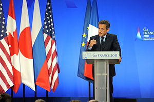 37th G8 summit - Nicolas Sarkozy was the host of the 37th G8 summit in Deauville, France.