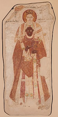 Nubian wall painting from Faras