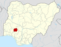 Location of Ekiti State in Nigeria