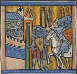 Siege of Nicaea - 13th-century miniature (BNF Fr. 779)
