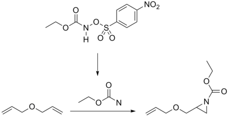 Nitrene addition