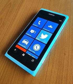 Nokia Lumia 800 2011 smartphone manufactured by Nokia