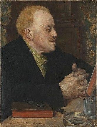 Norbert Goeneutte - Portrait of Paul Gachet (1891)