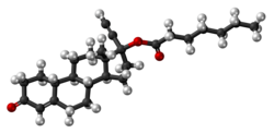 Norethisterone enanthate molecule ball.png